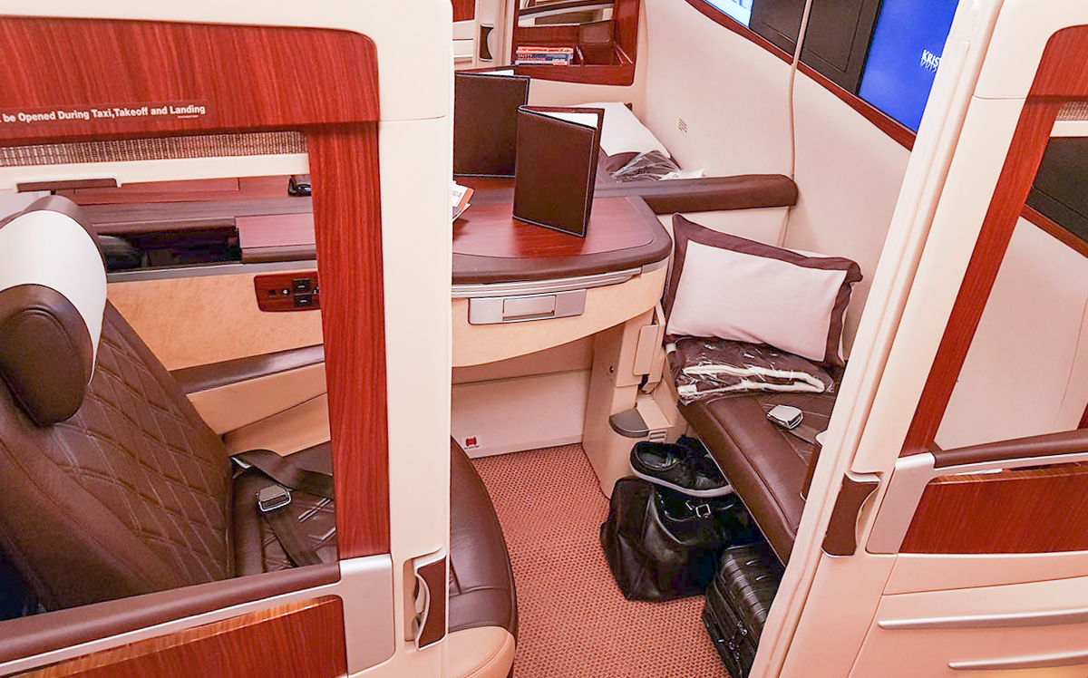 Singapore Airlines A380 old First Class Suite | Point Hacks