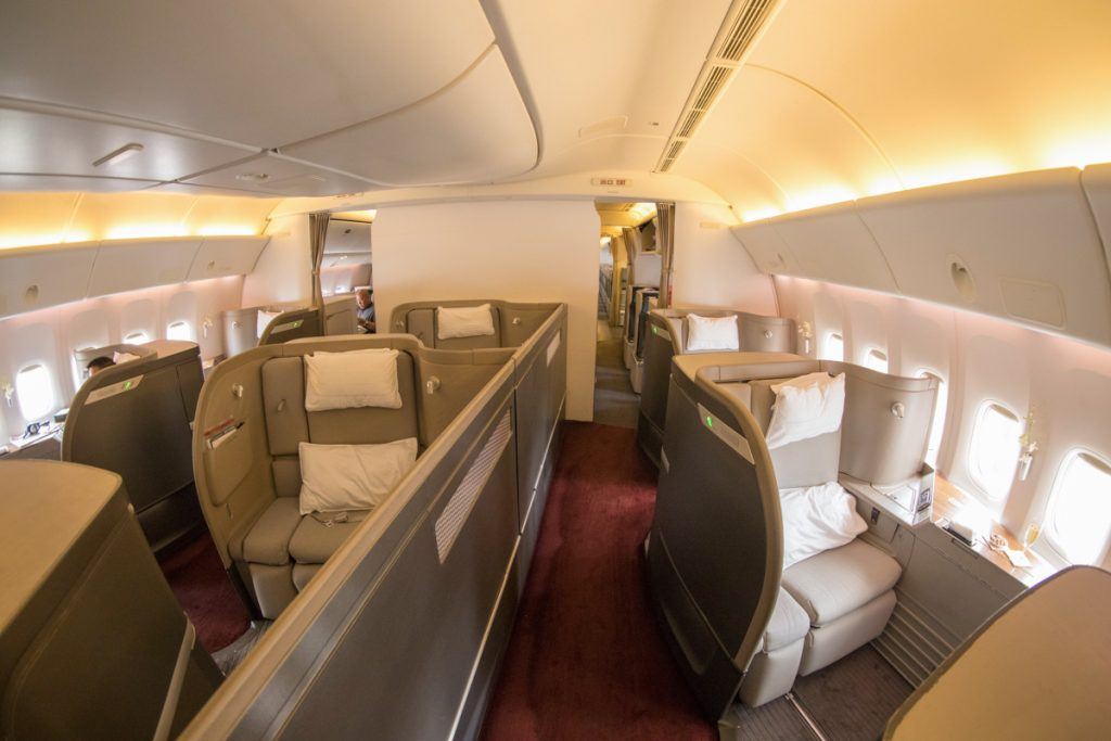 Cathay Pacific 777 First Class cabin
