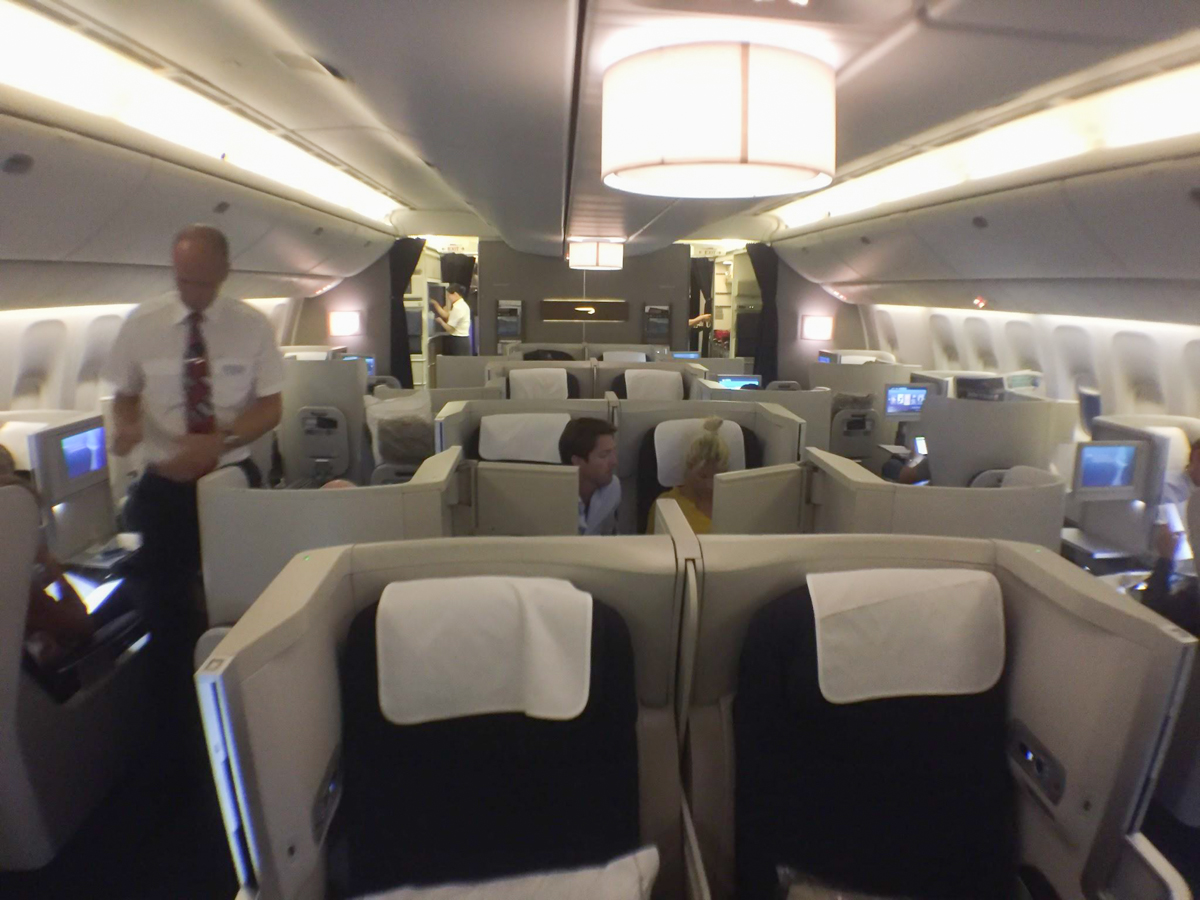 British Airways' Boeing 777 Business Class