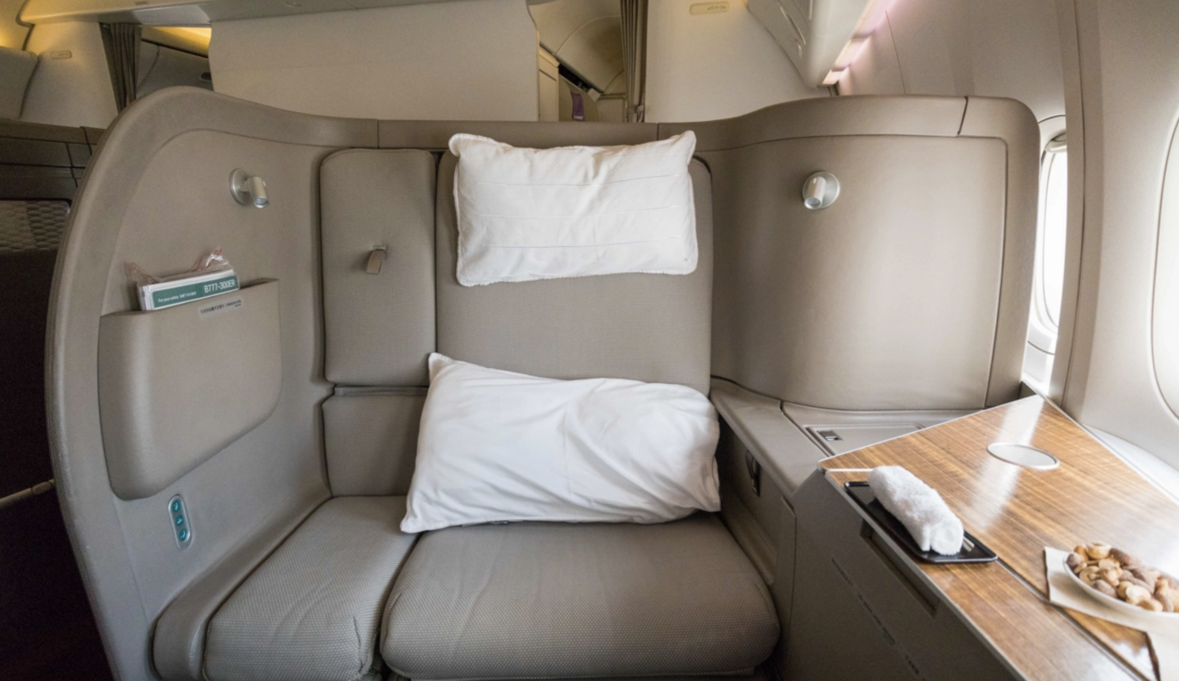 Cathay Pacific 777 First Class seat