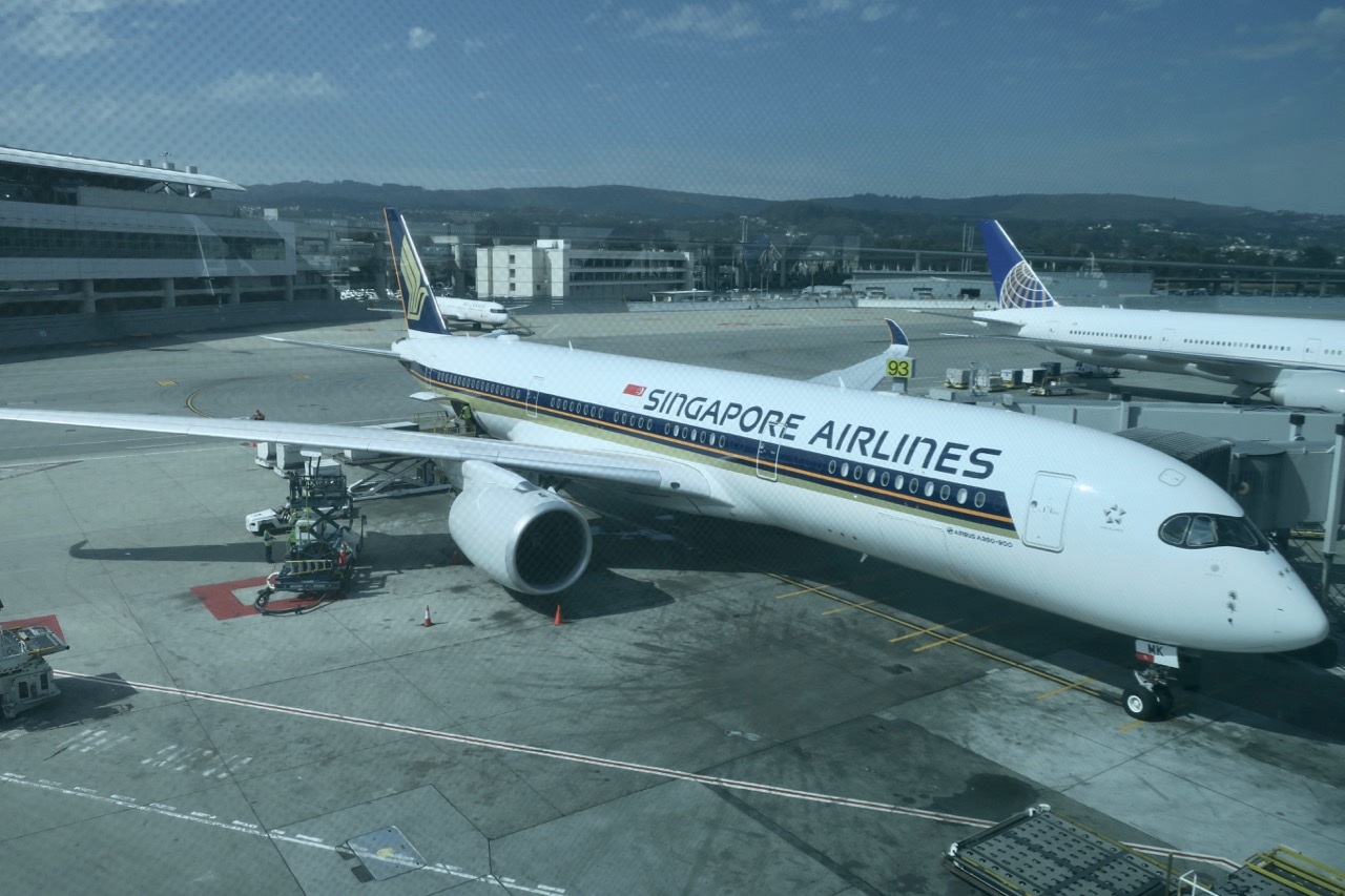 Singapore Airlines plane in tarmac