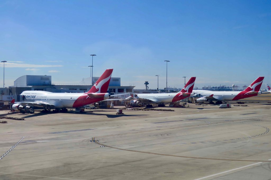 Three planes Qantas Planes at tarmac | Point Hacks