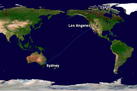 American Airlines Sydney to LA