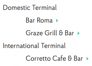 Brisbane Airport Eateries