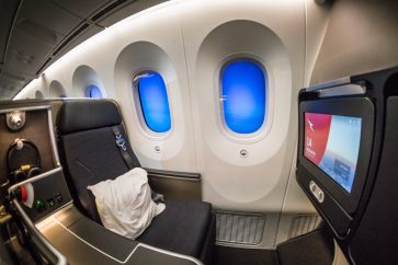 Qantas 787 Domestic Business Class overview