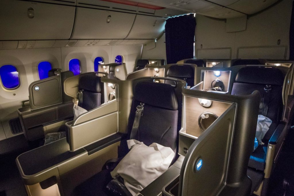 Qantas Boeing 787 Dreamliner Business Class