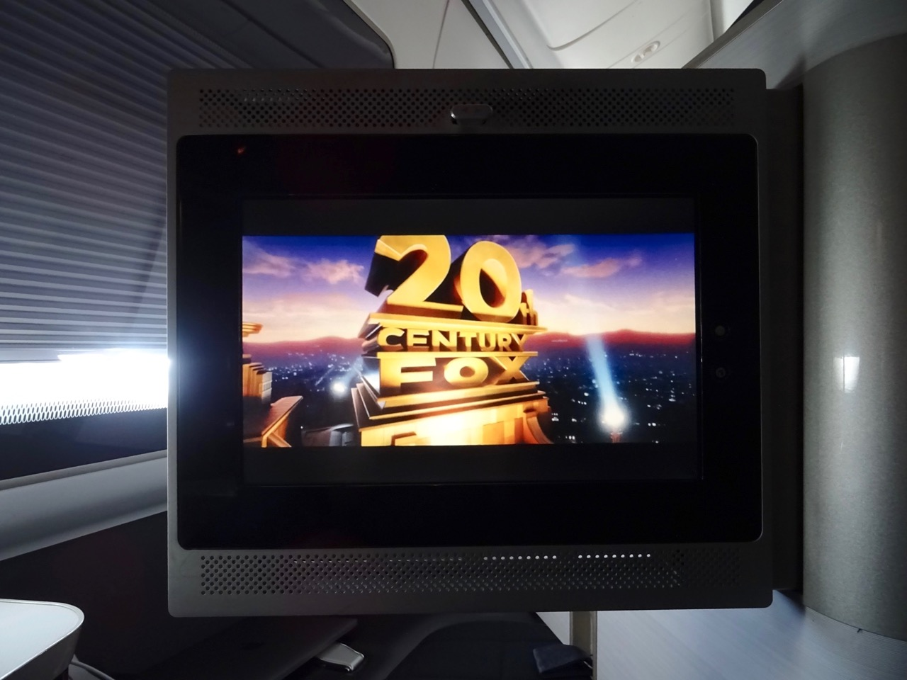 British Airways 777 First Class inflight entertainment screen