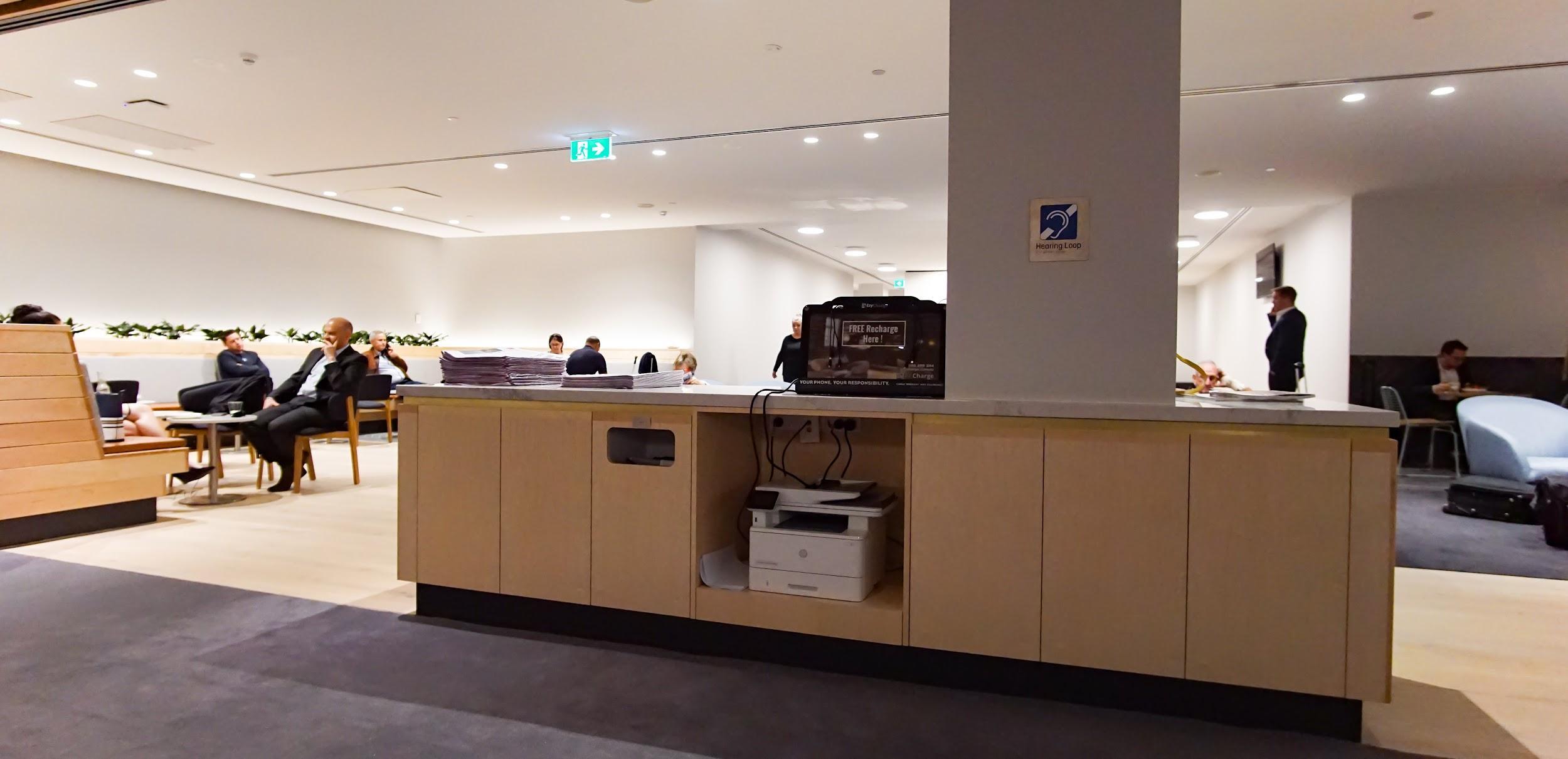 Qantas Club Melbourne business centre