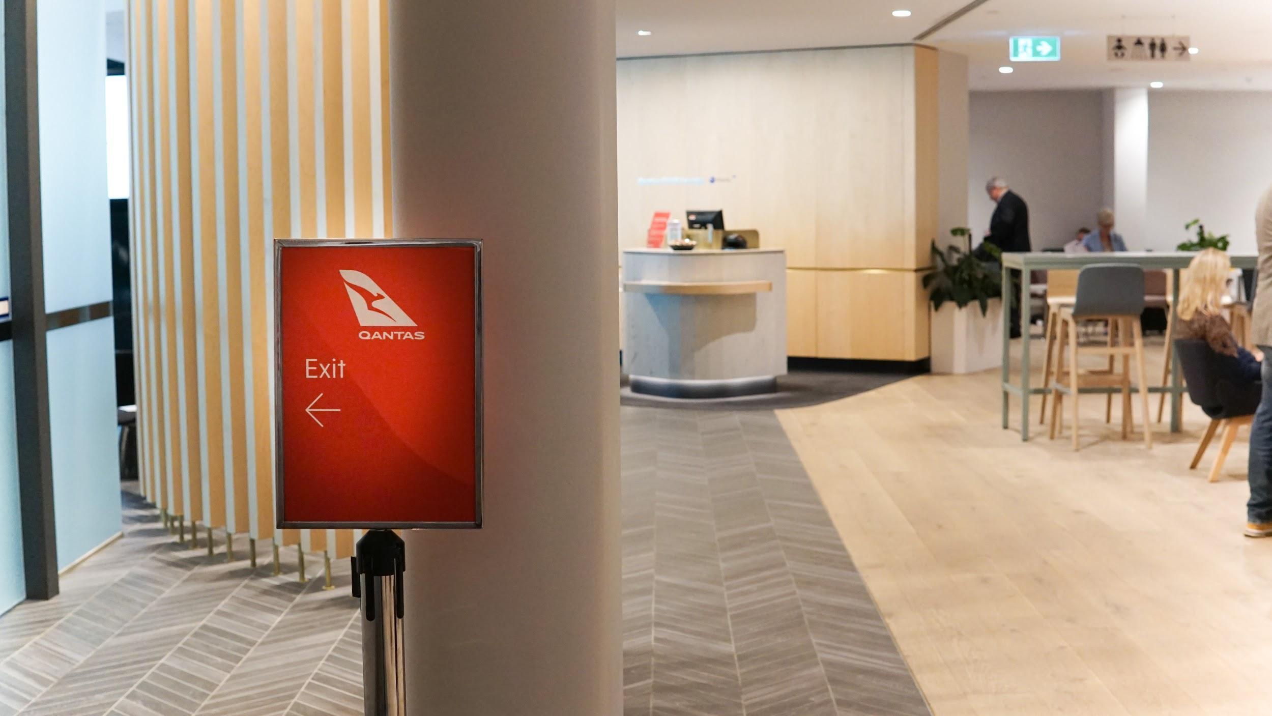 Qantas Club Melbourne exit