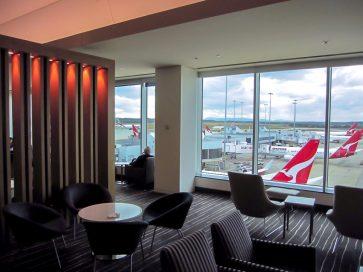 Qantas Domestic Business Lounge Melbourne overview