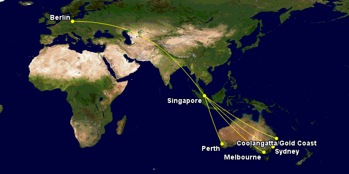 Flight deal map route