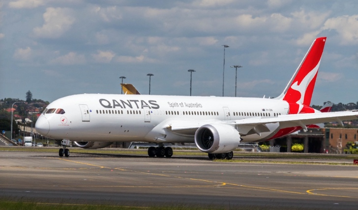 Qantas Dreamliner on tarmac
