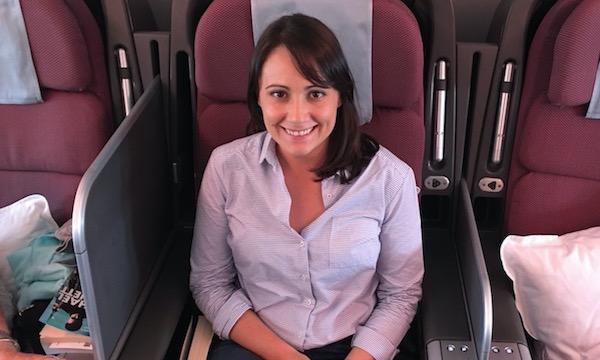 Natasha on plane