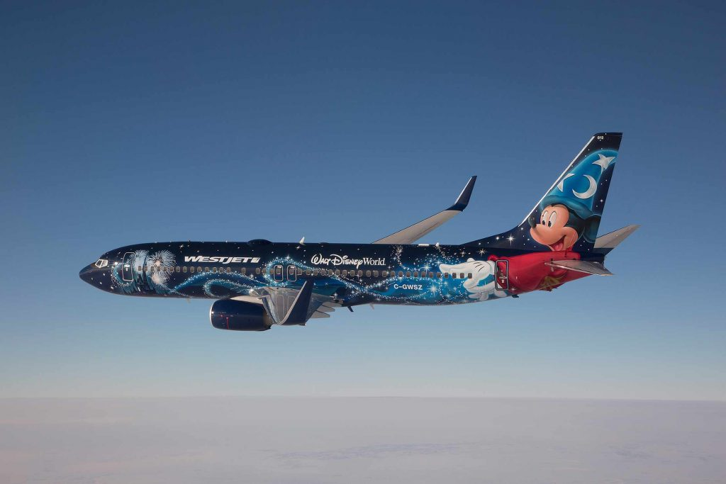WestJet Disney plane