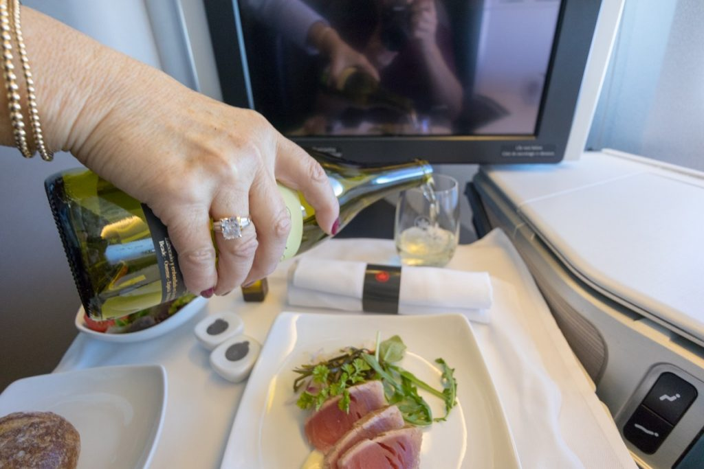Air Canada 777 Business Class food