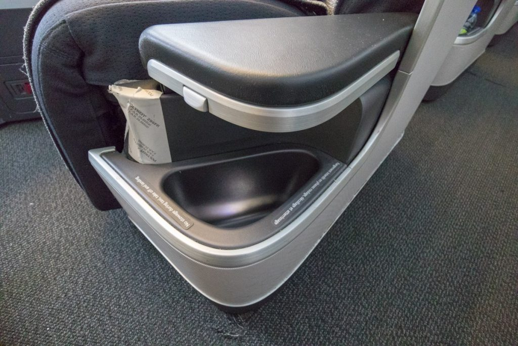 Air Canada 777 Business Class additional storage space