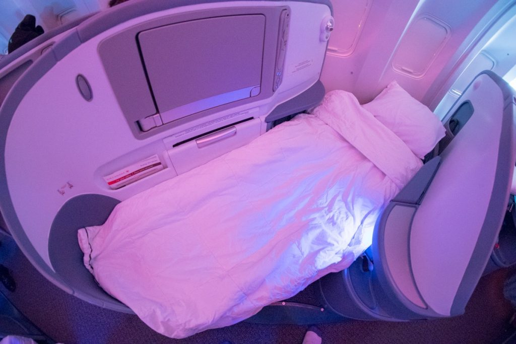 Air Canada Boeing 767-300 Business Class lie-flat bed