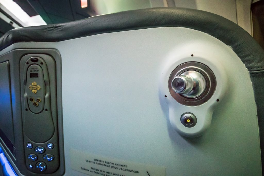 Air Canada Boeing 767-300 Business Class reading light