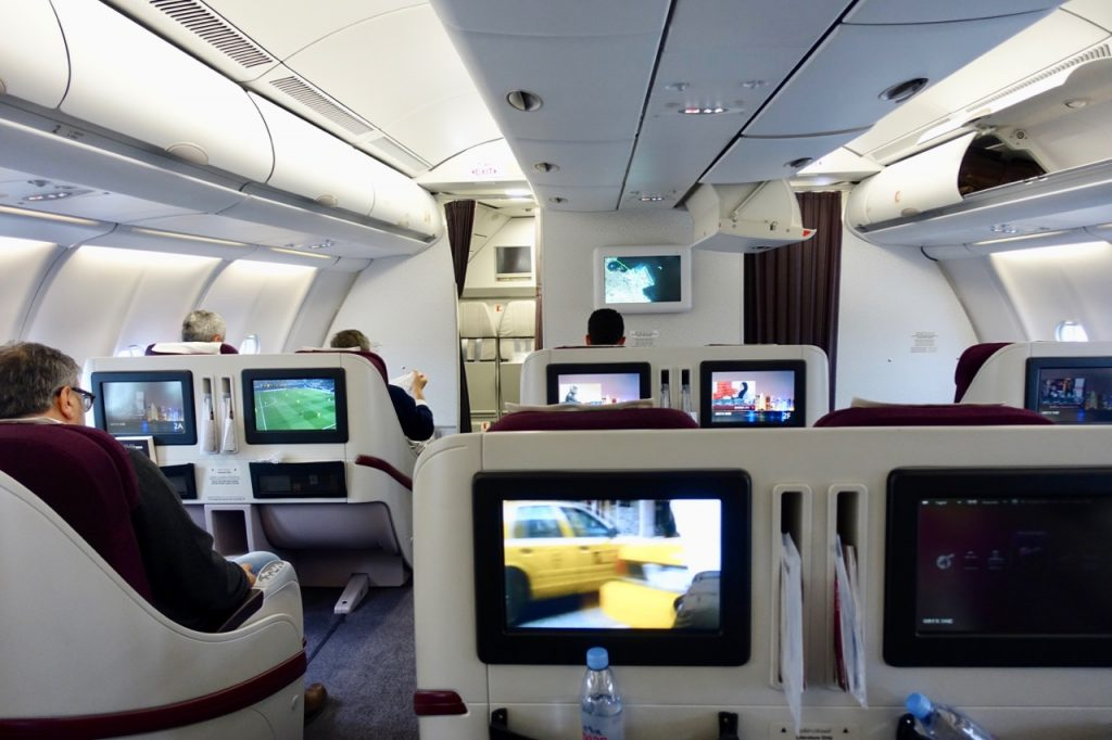 Qatar Airways A330-200 inflight entertainment screen