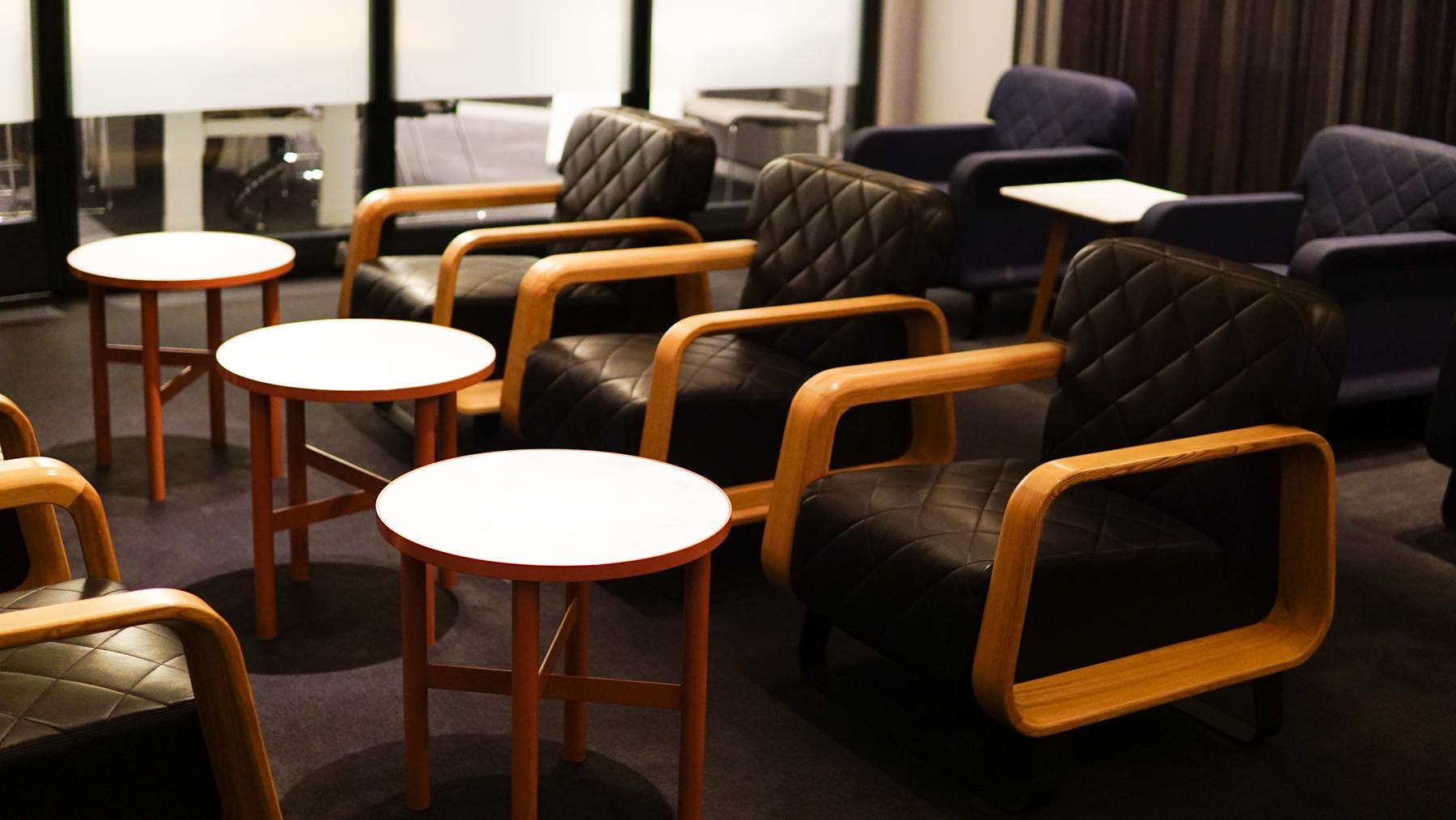 Qantas Perth Domestic Business Lounge meeting
