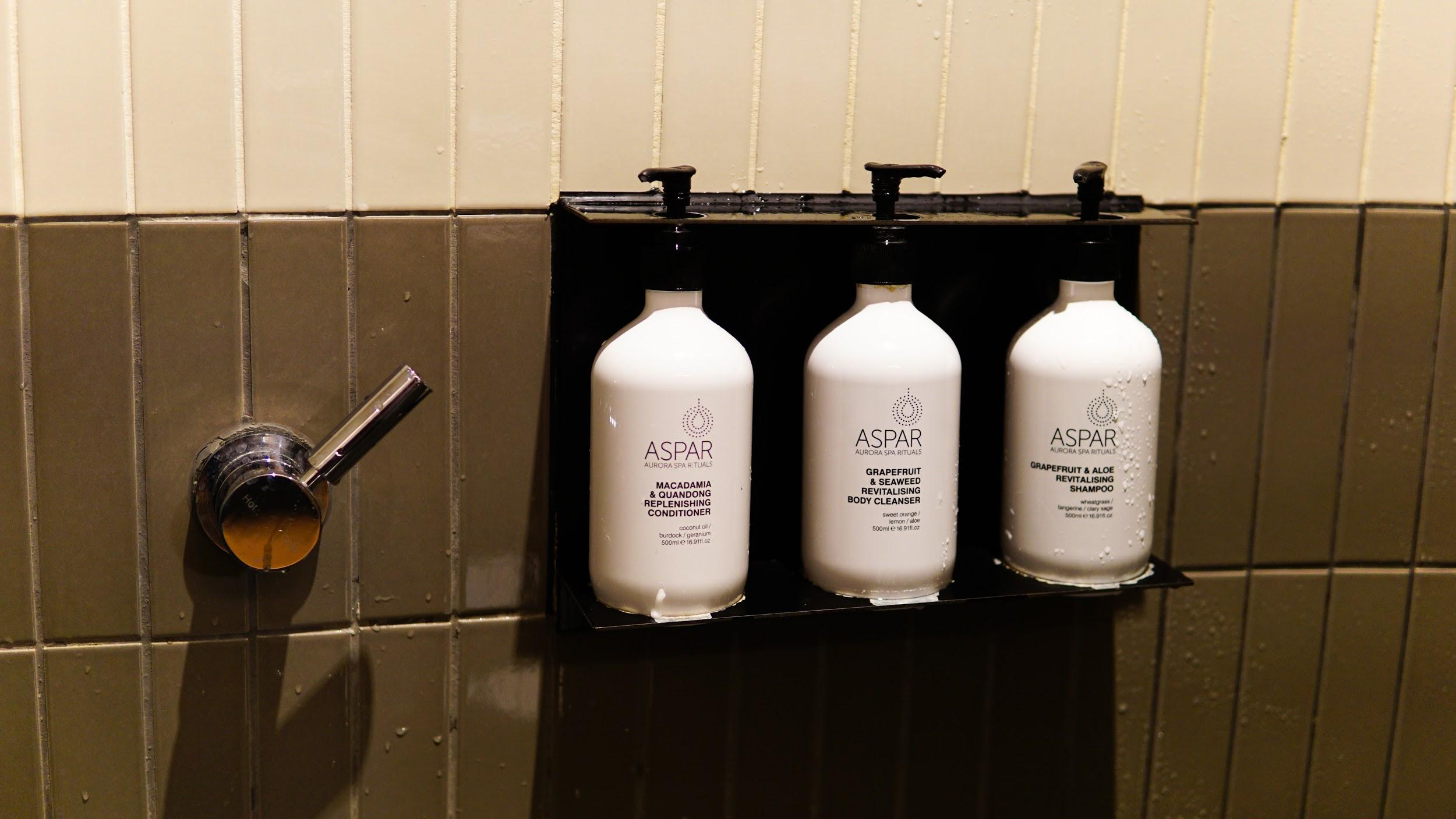 Qantas Domestic Business Lounge toiletries