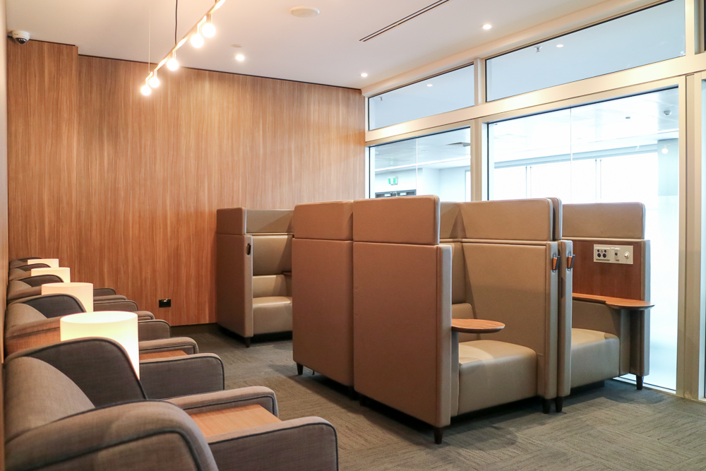 Melbourne Plaza Premium Lounge seating area