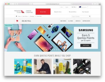 How to earn Qantas Points by shopping through the Qantas Online Mall