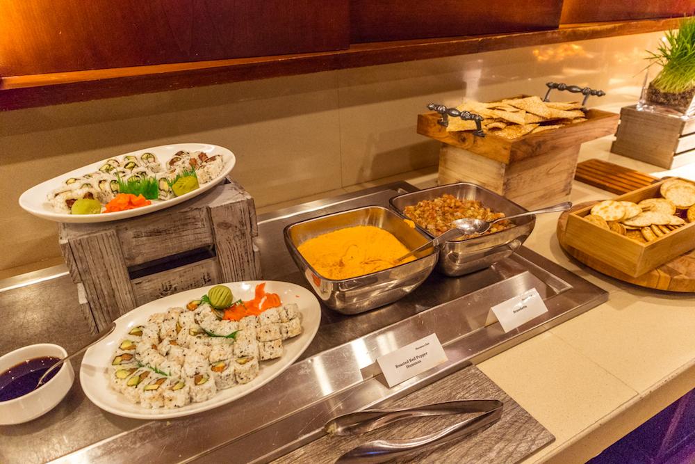 Sheraton Centre Toronto Club Lounge food