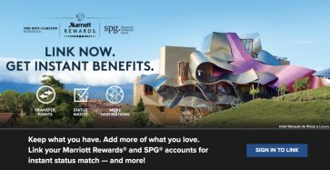 How to link SPG and Marriott Rewards accounts to get reciprocal status