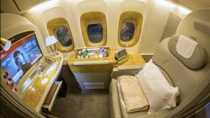 Emirates Boeing 777-300ER First Class overview