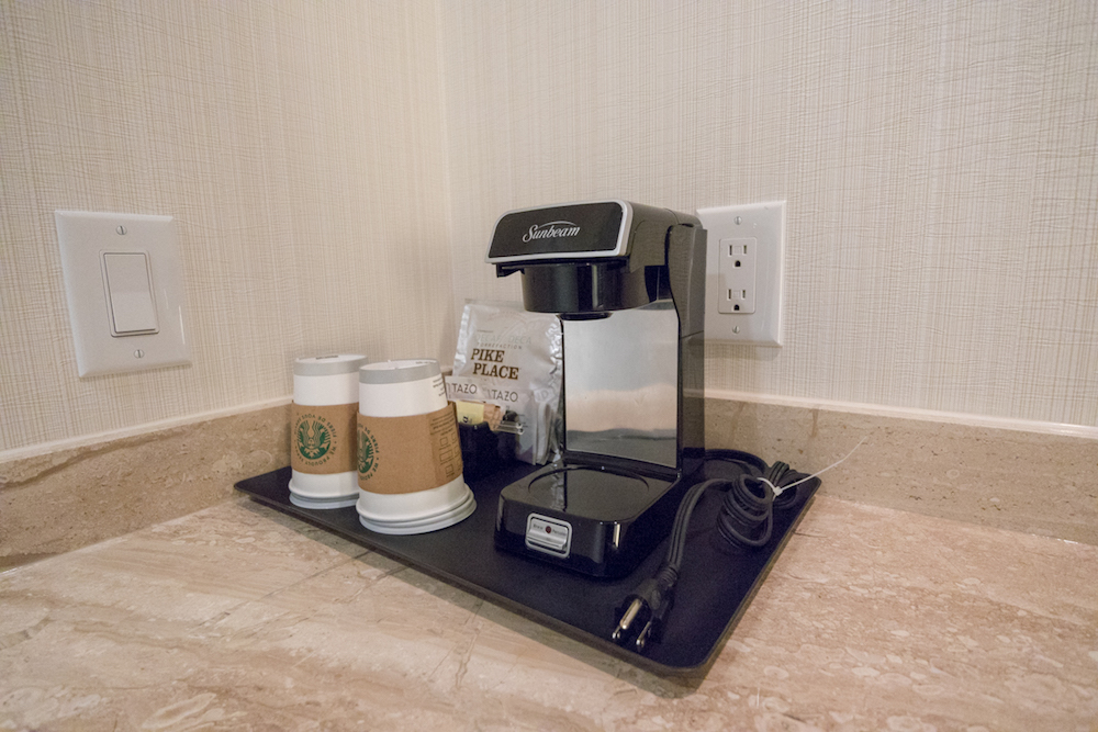 Sheraton Vancouver Wall Centre One Bedroom Suite coffee machine