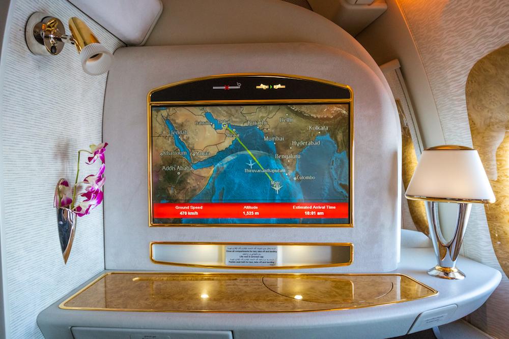Emirates 777 First Class inflight entertainment