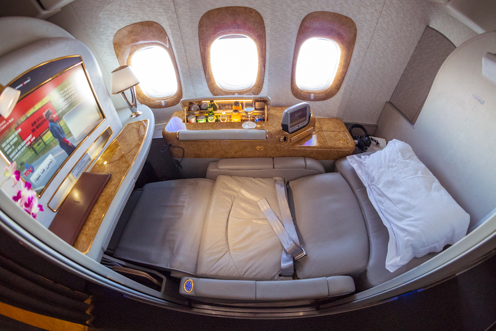 Emirates 777 First Class window seat