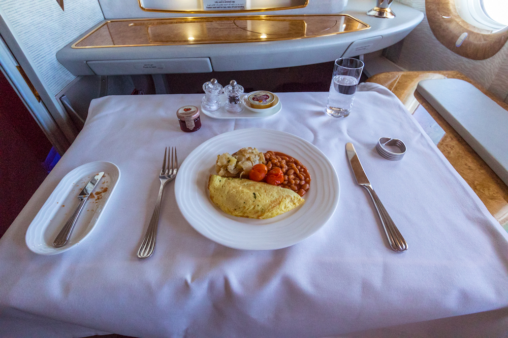Emirates 777 First Class food
