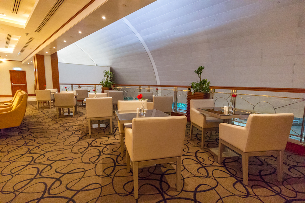 Emirates First Class Lounge Terminal 3 Concourse C Dubai dining table