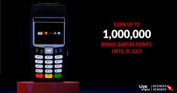 Earn up to 1 million bonus Qantas Points with Live eftpos black