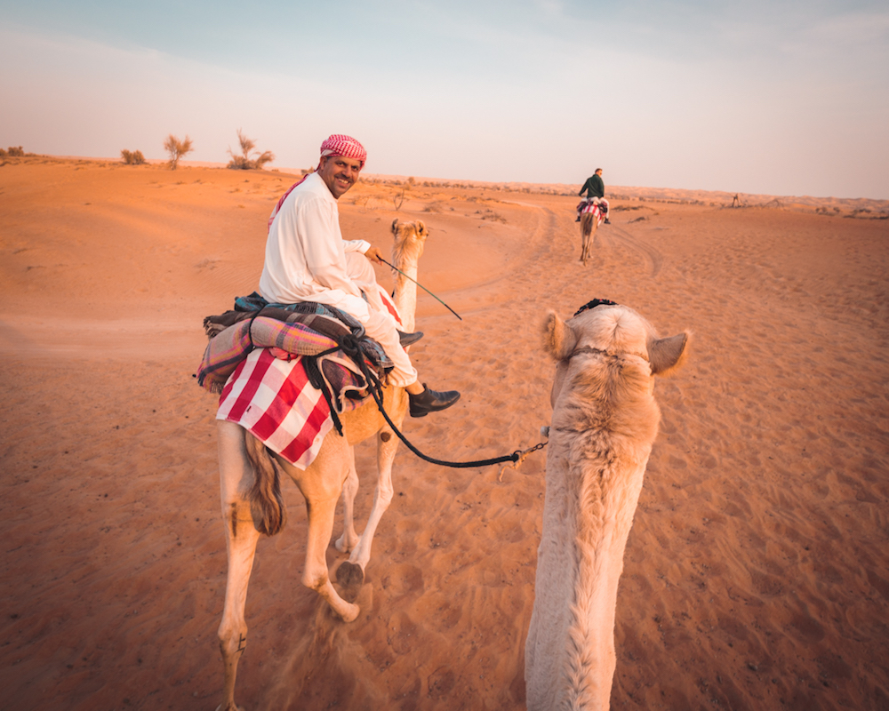 Al Maha, a Luxury Collection Desert Resort & Spa, Dubai sunset camel trek
