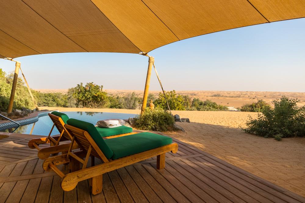 Al Maha, a Luxury Collection Desert Resort & Spa, Dubai - The Bedouin Suite deck chairs