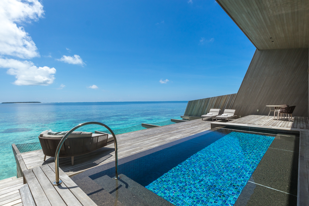 The St. Regis Maldives pool