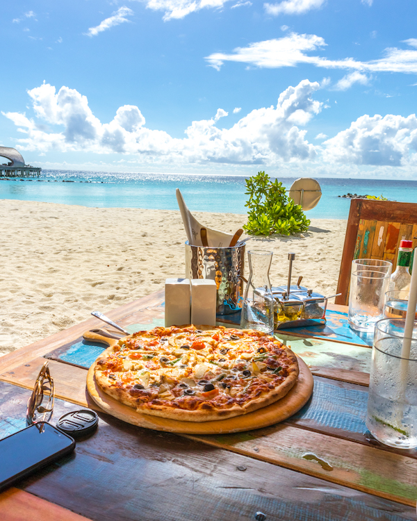The St. Regis Maldives Vommuli Resort food from Crust restaurant