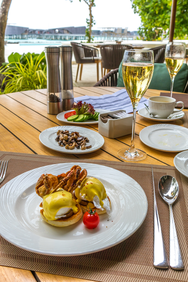 The St. Regis Maldives Vommuli Resort breakfast food