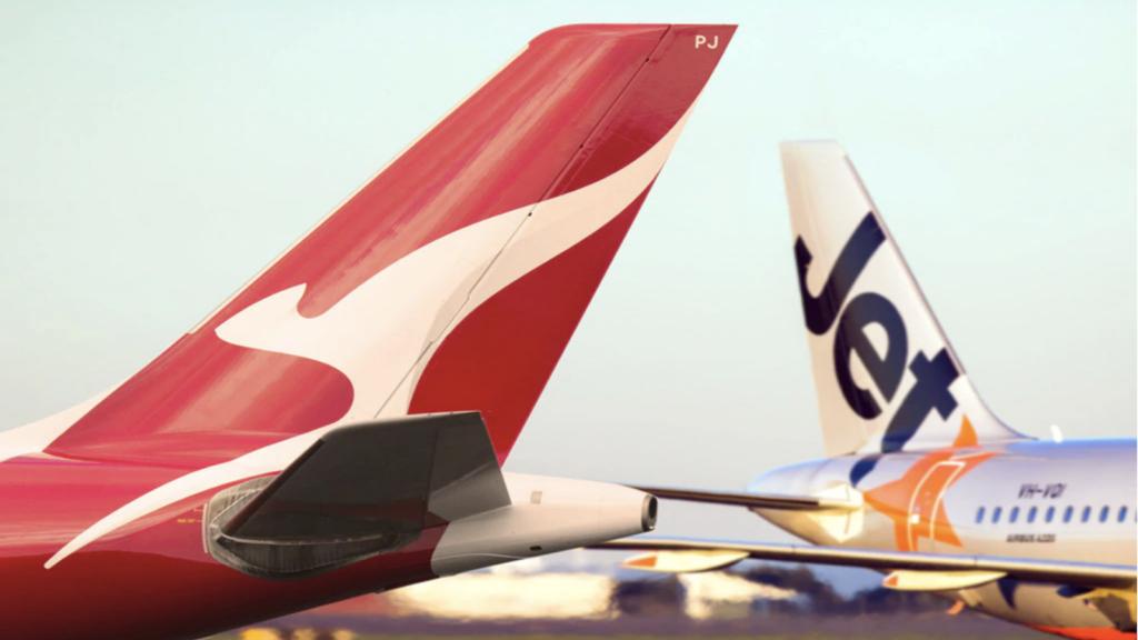 Qantas Jetstar tails