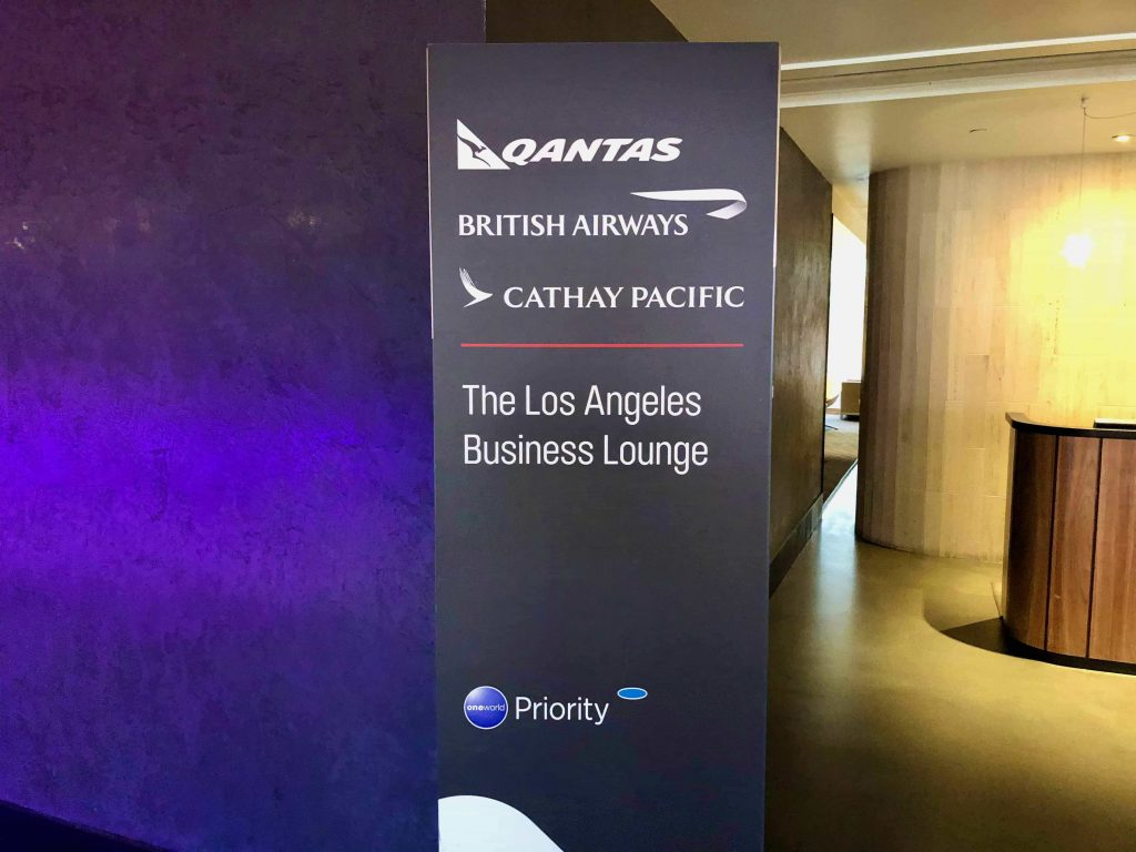 Qantas International Business Lounge Los Angeles entrance