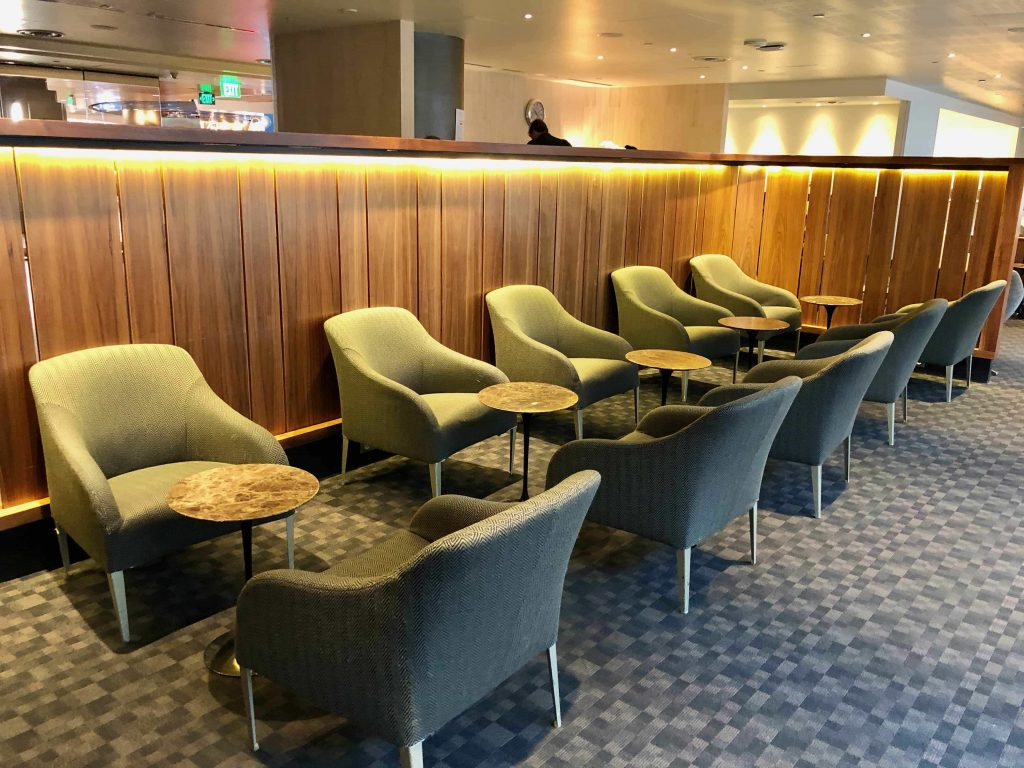 Qantas International Business Lounge Los Angeles seating