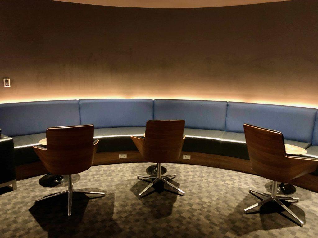 Qantas International Business Lounge Los Angeles seating