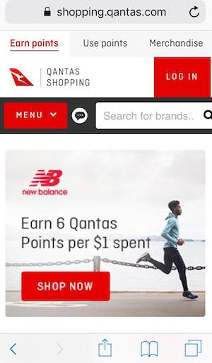 Qantas Shopping Mobile