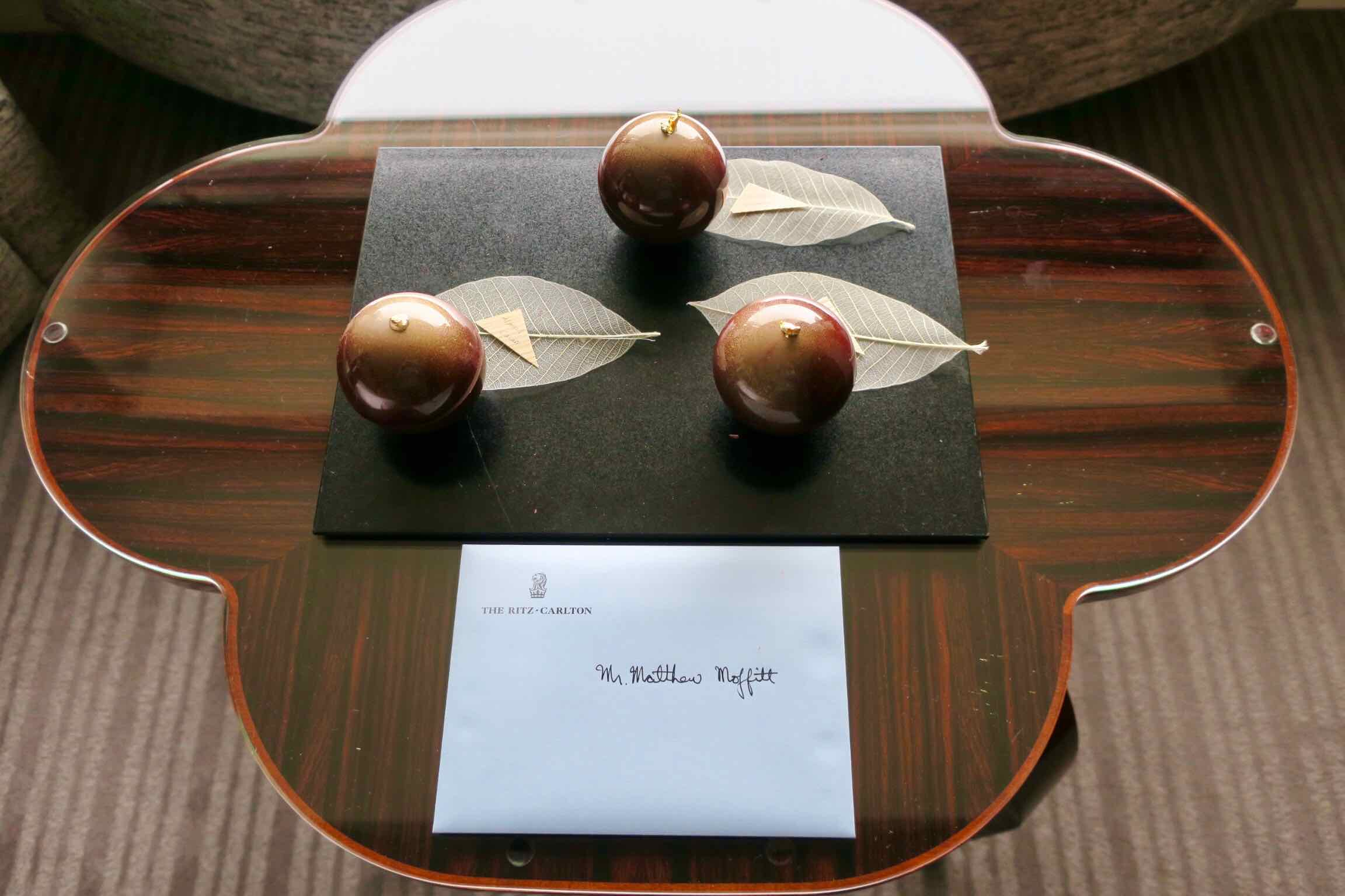 The Ritz-Carlton, Tokyo welcome note