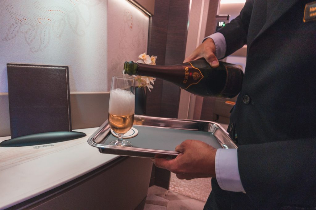 Singapore Airlines A380 Suites Class Krug