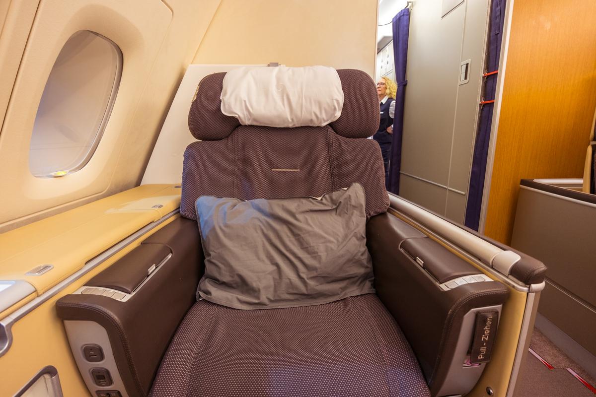 Lufthansa A380 First Class seat