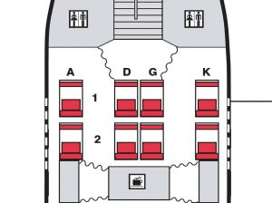 Lufthansa A380 First Class seat map